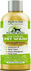 Pro Pet Works Oatmeal Pet Shampoo contains natural ingredients such as almond oil and more