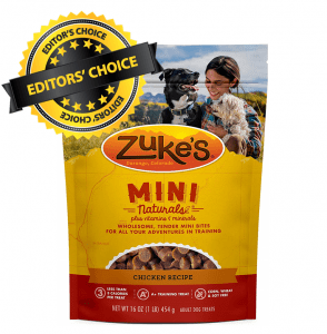 Editor's Choice Is Zuke's Natural Training Dog Treats; Mini Naturals Recipe