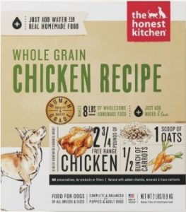 Reviews Of The Honest Kitchen Whole Grain Human Grade, Dehydrated Chicken (Require Hot Water To Prepare)