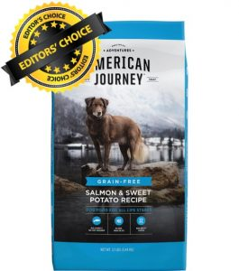 American Journey Grain Free with Salmon and Sweet Potatoes Ingredients