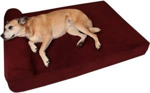Big Barker 7inch Pillow Top Orthopedic Dog Bed for Large and Extra Large Breed Dogs Headrest Edition
