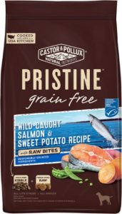 Castor & Pollux Pristine Dog Food, Wild-Caught Salmon & Sweet Potato Recipe With Raw Bites