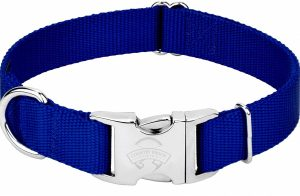 Country Brook Petz Premium Nylon Dog Collar with Metal Buckle Edited