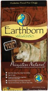 Earthborn Holistic Primitive Natural Grain Free Ingredients Dog Food