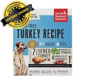 Editors Choice is Honest Kitchen Grain Free Dehydrated Meal
