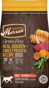 A Bag Of Merrick Grain Free Real Chicken SweetPotato Ingredients