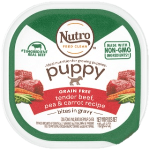 Nutro Dog Foods Puppy Formula Tender Beef Pea- Carrot Recipe 9th best for dogs
