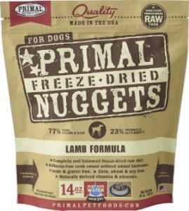 A Bag Of Primal Freeze Dried Nuggets Lamb Meal