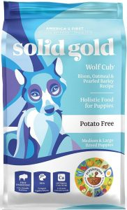 Solid Gold Wolf Cub Food for Puppies High in protein and good omegas fat