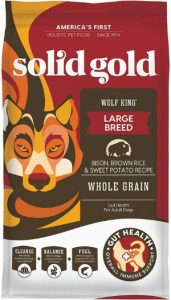 Solid Gold Wolf King Whole Grain Dry Dog Food Recipe For Large Breeds