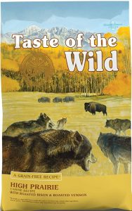 Taste Of The Wild High Prairie Grain Free Chicken meal dry food with good omega fat