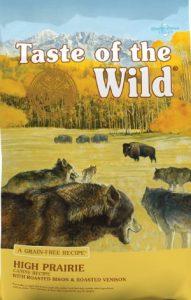 Taste Of The Wild High Prairie Grain Free Diet Roasted Bison Roasted Venison Ingredient Recipe Dry Dog Food