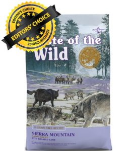 Our chosen best dog food Taste Of The Wild Sierra Mountain Dry Dog Food Recipe With Roasted Lamb