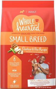 WholeHearted Grain Free Dry Dog Food For Small Breed Chicken First Ingredient Peas Recipe
