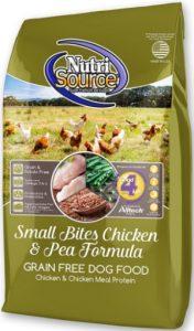 NutriSource Small Bites Chicken Protein & Peas Ingredients Diet