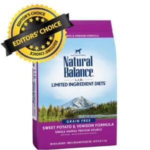 natural balance limited ingredient dog food formulas with biotin