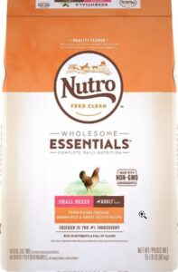 Nutro Wholesome Essentials with no meat products for dogs