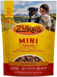 Zuke healthy dog treats with peanut butter