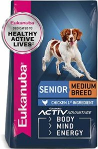 Eukanuba For Medium Breed dogs with omega 6 fatty acids and protein