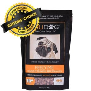 TruDog Feed Me Freeze-Dried Raw Superfood best food for senior dog with protein