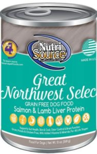 NutriSource Great Northwest Select Grain-Free for pet allergic reaction