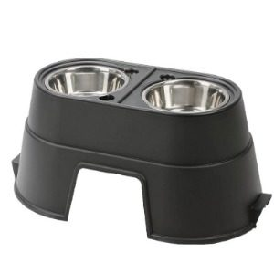 A More Useful Elevated Dog Bowl with Storage