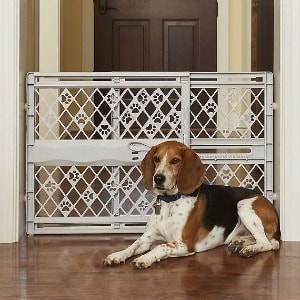 Dog Gate with Door and Side Panels