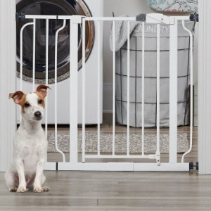 Dog Gate with Rubber Feet